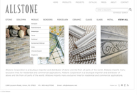 allstone website design - award winner 2013