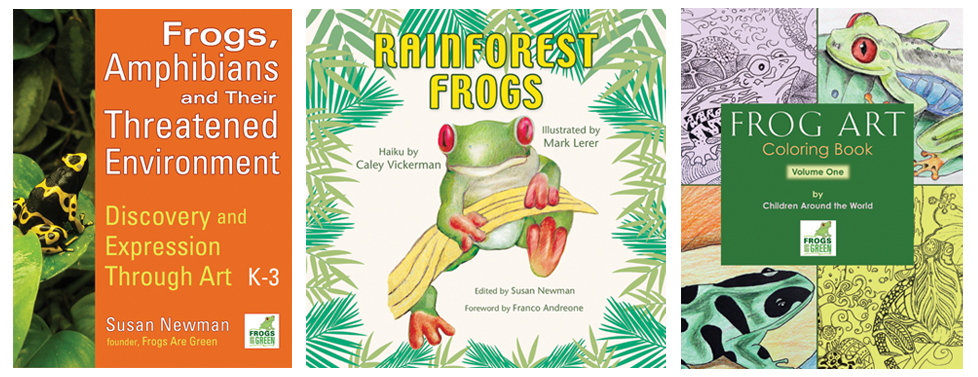 Frog Books, coloring books and amphibian teaching resources from Susan Newman and Frogs Are Green