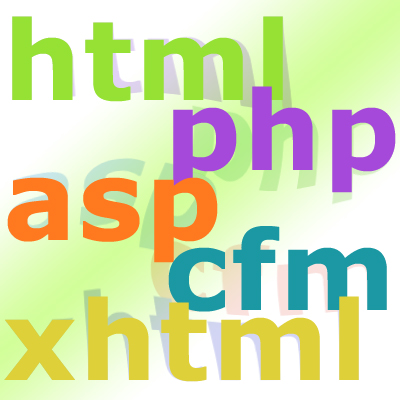 html php asp cfm xhtml code graphic