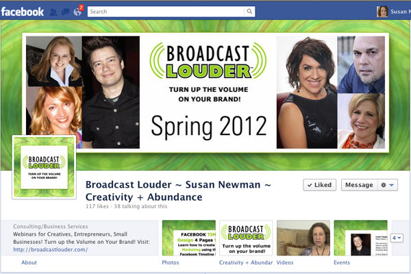 Broadcast Louder Facebook Timeline Design
