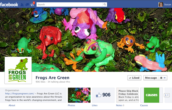 Frogs Are Green Facebook Timeline Design Cover and Profile Image