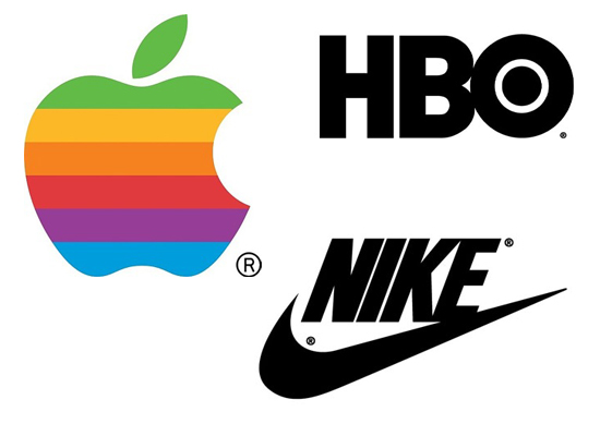 great branding identity for nike apple hbo