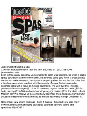 James Corbett Salon in Time Out NY