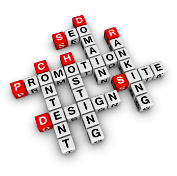seo web site marketing promotion words like crossword