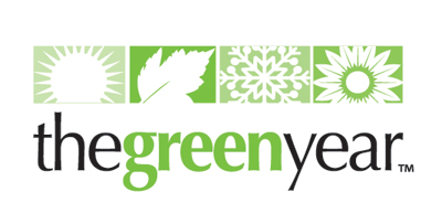 the green year logo