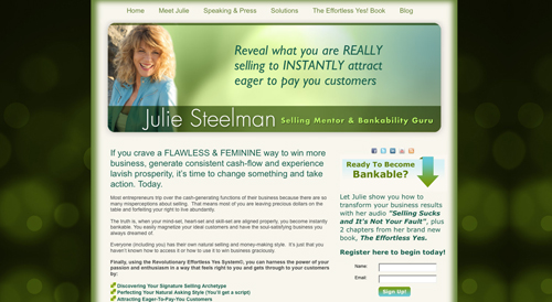 Julie Steelman website image