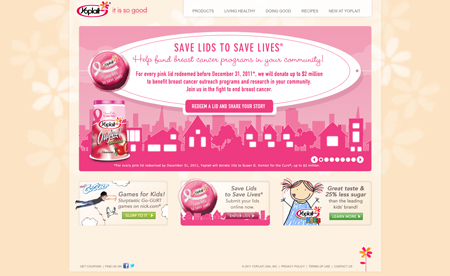 Yoplait - save Lids to save Lives Campaign