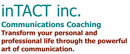 inTACT inc. Communications coaching - identity