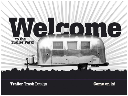 Trailer Trash Design - homepage