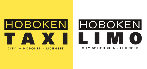 Hoboken Taxi and Limo branding designs by Susan Newman