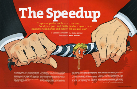 Mother Jones spread by Mark Matcho
