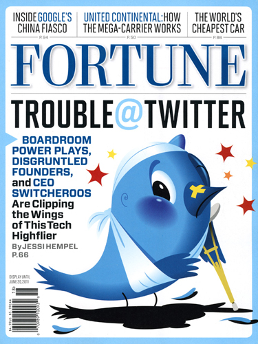 Twitter Fortune Cover illustration by Mark Matcho