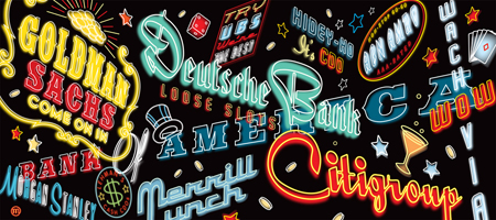 Vegas typographic signs by Mark Matcho