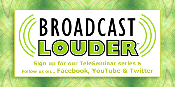 Broadcast Louder Banner ad