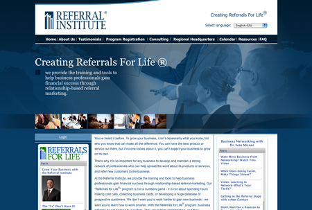 Referral Institute Website and logo design