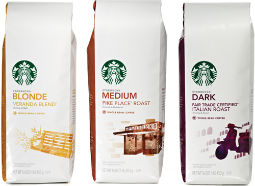 Starbucks New Coffee Bag Packaging