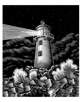 Lighthouse Artwork by John Etheridge