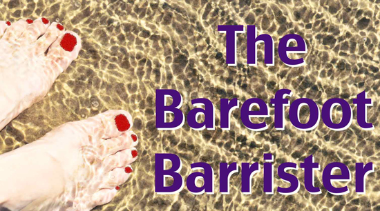 The Barefoot Barrister, Tamar Cerafici - red toe nails under water