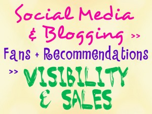 social media and blogging draw fans and recommendations that lead to greater visibility and sales