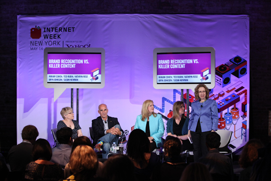 Internet Week NY Panel - Miriam Cohen, Ted Rubin, Kathryn Rose, Bryn Johnson and Susan Newman (Organizer and Moderator).