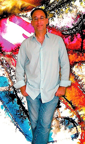 Mark Schwartz poses with his High Heeled Art