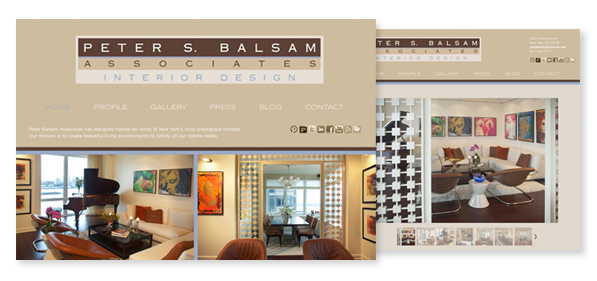 Peter Balsam Associates website design 2012