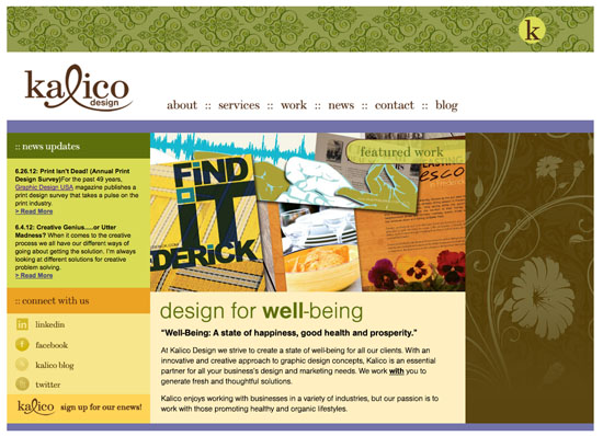 Kalico Design website screenshot