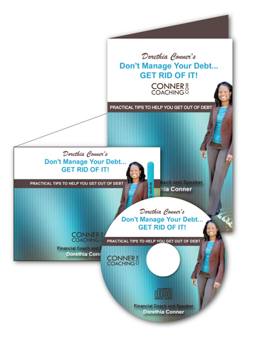Conner Coaching CD Packaging - Get out of Debt