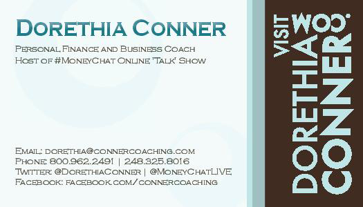 Dorethia Conner Business Card Design