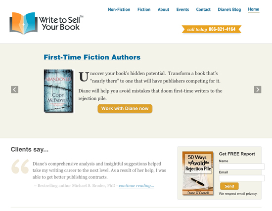 Write to Sell your Book - website