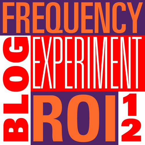 blog frequency experiment 2012 by Susan Newman