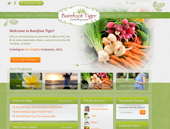 Barefoot Tiger Website