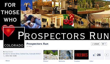 Prospector's Run Facebook Cover and Profile Image Interact