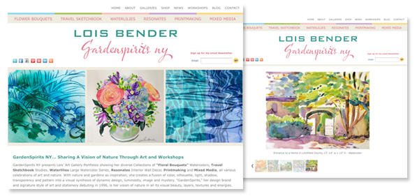 Lois Bender - Gardenspirits NY branding and web design
