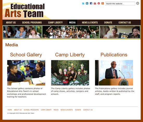educational arts team in jersey city - new responsive WordPress theme