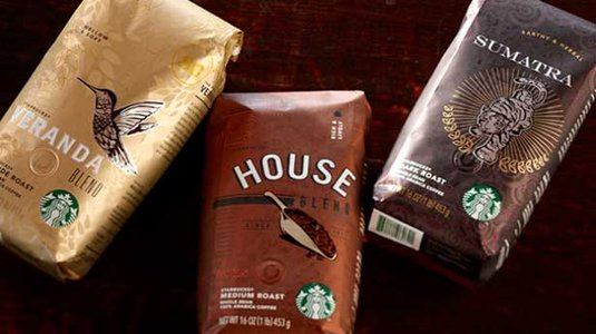 Starbucks packaging 2013 metallic coffee bags