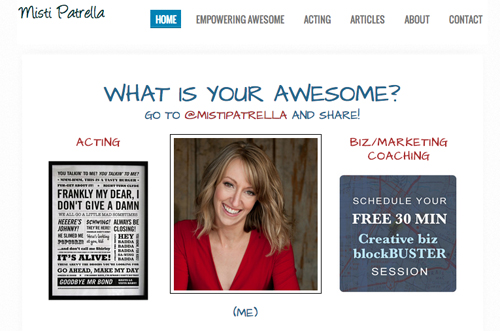 Empowering awesome - Misti Patrella website