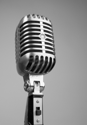 Radio microphone for podcasting