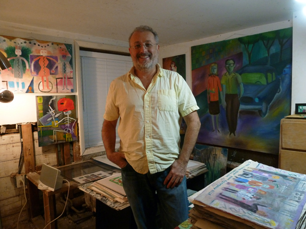 Santiago Cohen in his Art Studio