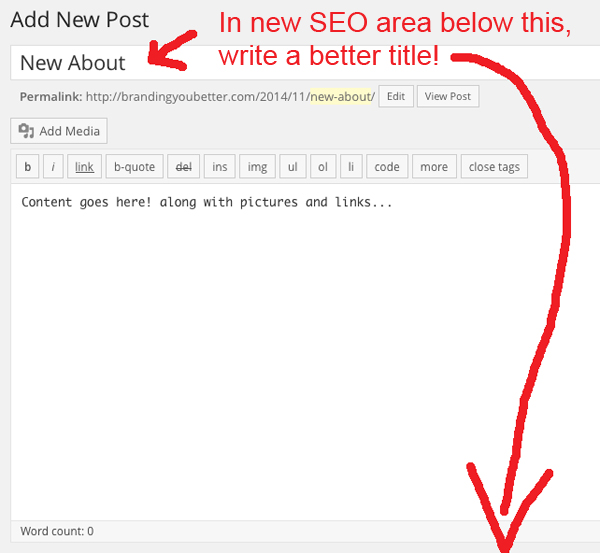 add a better seo title to blog post