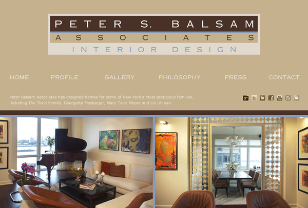 Peter Balsam & Associates - original website design by Susan Newman
