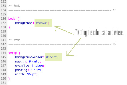 Style css code sample