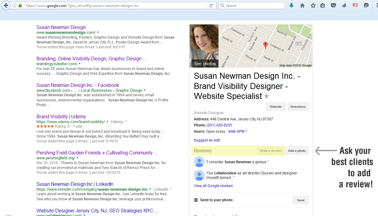 Google features Susan Newman Design Inc