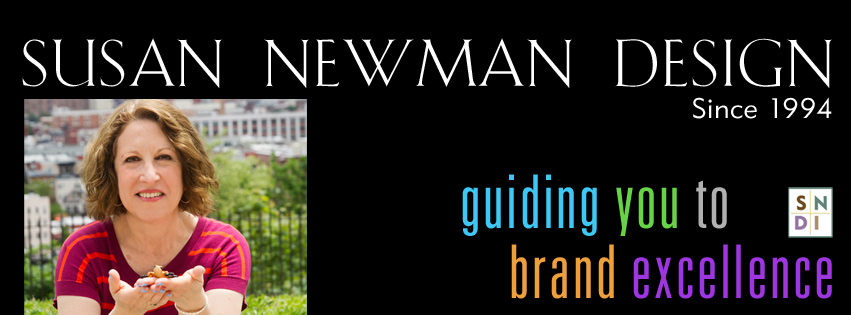 Previous Facebook cover image for Susan Newman Design that looked fine on FB but was cut off on mobile devices.