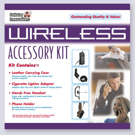 Wireless Accessory Kit packaging design