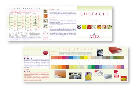 Atta, Inc. Technical detail of products brochure design