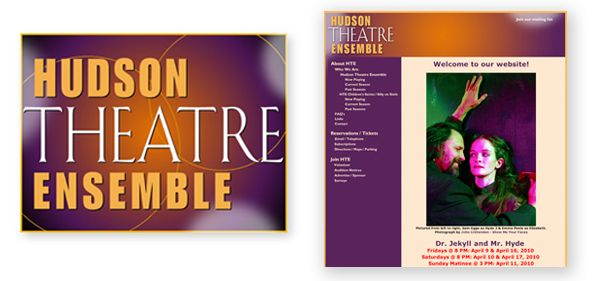 Hudson Theatre Ensemble Branding, web design and theater poster design