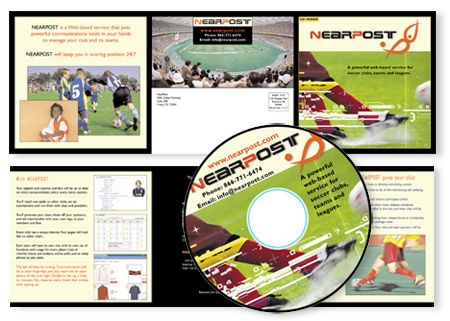 Nearpost CD Package Design, CD Face design, Flash animation presentation