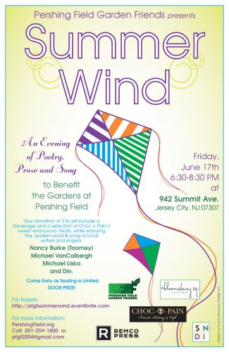 Summer Wind 2016 - Poetry, Prose and Song in JC Heights