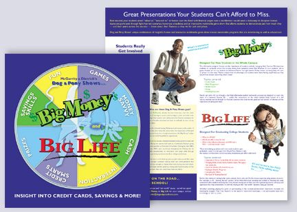 Big Money - Big Life Brochure/Poster by Dog and Pony Shows